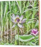 Lotus Flower On The Water Wood Print