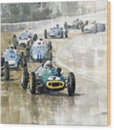 1961 Germany Gp  #7 Lotus Climax Stirling Moss Winner  Wood Print