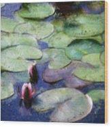 Lotus Lake Wood Print