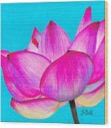 Lotus  Wood Print by Laura Bell