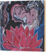 Lotus Love Wood Print