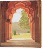 Lotus Mahal Wood Print