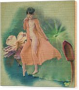 Lotus Maiden Wood Print