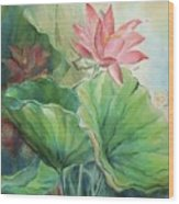Lotus Of Hamakua Wood Print