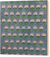 Lotus Pichwai Miniature Wood Print