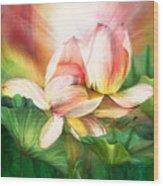 Lotus - Spirit Of Life Wood Print