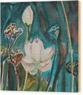 Lotus Study I Wood Print