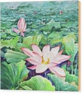 Lotus_01 Wood Print