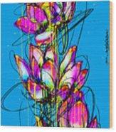 Lotuses  Wood Print