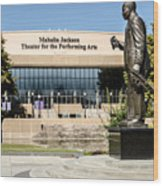 Louis Armstrong Bronze - Mahalla Jackson Theater - New Orleans Wood Print