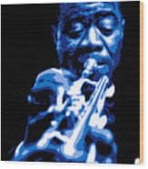 Louis Armstrong Wood Print by DB Artist