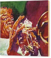 Louis Armstrong Pops Wood Print