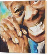 Louis Armstrong  What A Wonderful World  Wood Print