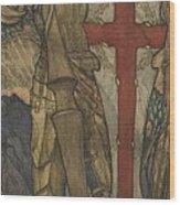 Louis B. Davis 1861-1941 St. George, Study For A Window At Wynyard Park Wood Print