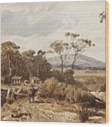 Louis Buvelot , At Ballan, 1876 Wood Print