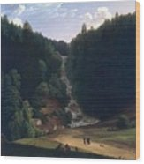 Louis Gauffier  View Of Falls At Vallombrosa Wood Print
