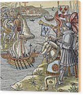 Louis Ix: Disembarking Wood Print