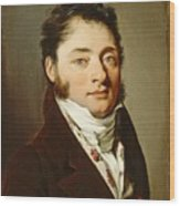 Louis-leopold Boilly - Portrait Of A Gentleman Wood Print