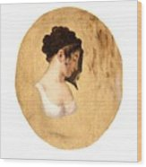 Louis-leopold Boilly - Profile Of A Young Womans Head Wood Print