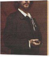 Louis Maurice Boutet De Monvel  Portrait Of Paul Mounet Wood Print