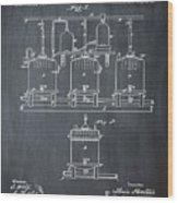 Louis Pasteur Brewing Beer And Ale Patent 1873 Chalk Wood Print