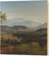 Louis Remy Mignot 1831-1870, Fishkill Mountains Wood Print