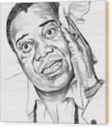 Louis Satchmo Armstrong Wood Print