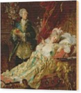 Louis Xv And Madame Dubarry Wood Print