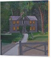 Louisa May Alcott's Home Wood Print by William Demboski