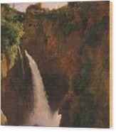 Louise-josephine Sarazin De Belmont  The Falls At Tivoli Wood Print