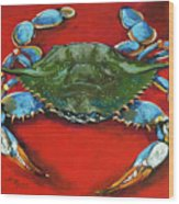 Louisiana Blue On Red Wood Print by Dianne Parks