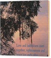 Louisiana Moss In Sunset Ps.85 V 10 Wood Print