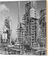 Louisiana: Oil Refinery Wood Print