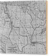 Louisiana Purchase Map Wood Print