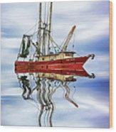 Louisiana Shrimp Boat 4 - Paint Wood Print