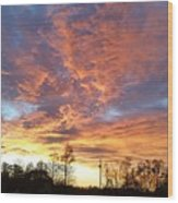 Louisiana Sunset 1 Wood Print