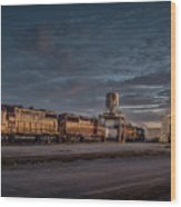 Louisville And Indiana Railroad At Jeffersonville Indiana Wood Print