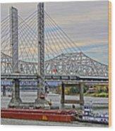 Louisville Bridges Wood Print
