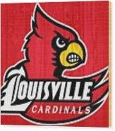 Louisville Cardinals Barn Door Wood Print