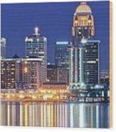 Louisville Kentucky Lights Wood Print