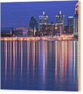 Louisville Lights Up Nicely Wood Print