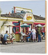 Loulou's On The Commercial Pier In Monterey-california Wood Print