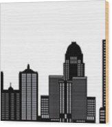 Lousivile Skyline Wood Print
