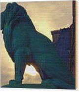 Louve Lion Wood Print