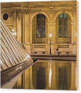 Louvre Courtyard Lamps - Paris Wood Print