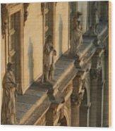 Louvre Exterior Wood Print