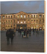 Louvre Palace, Cour Carree Wood Print