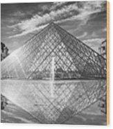 Louvre Pyramid, Paris Wood Print