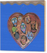 Lovable Funny Faces Wood Print