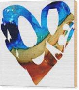 Love 6 - Heart Hearts Valentine's Day Wood Print